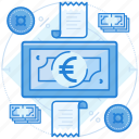 cash, currencies, euro, finance icon