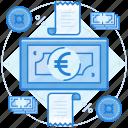 cash, currencies, euro, finance icon