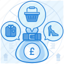 british, currencies, finance, pound, purchase icon