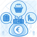 currencies, euro, finance, purchase icon