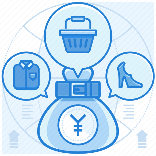 currencies, finance, purchase, yen icon