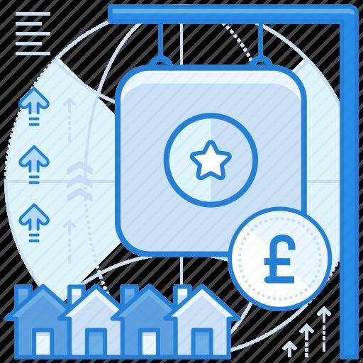 british, currencies, estate, finance, pound, real icon