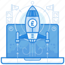 britsh, currencies, finance, pound, startup icon