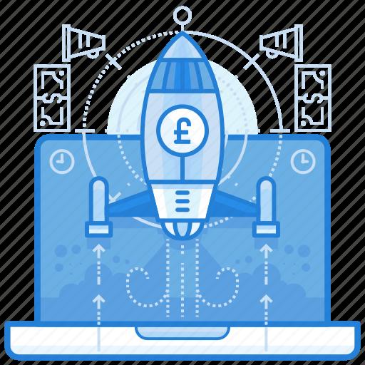 britsh, currencies, finance, pound, startup icon