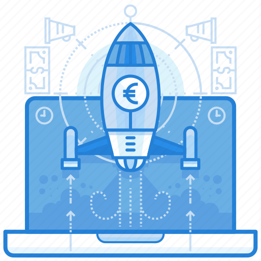 currencies, euro, finance, startup icon