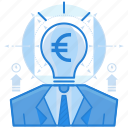 currencies, euro, finance, thought icon