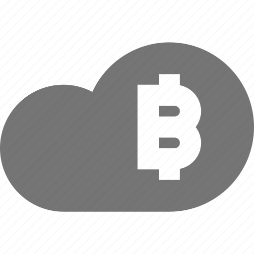 bitcoin, cloud icon