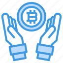 bitcoin, cryptocurrency, currency, money icon