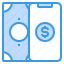 currency, money, online, payment, smartphone icon