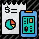 bill, card, credit, online, report, smartphone
