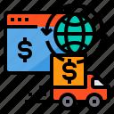 currency, exchange, online, truck, world