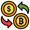 exchange, money, finance, dollar, currency, bitcoin, payment