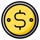 coin, dollar, money, business, currency