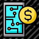 smartphone, exchange, digital, wallet, currency