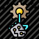 startup, hand, robot, setting, gear