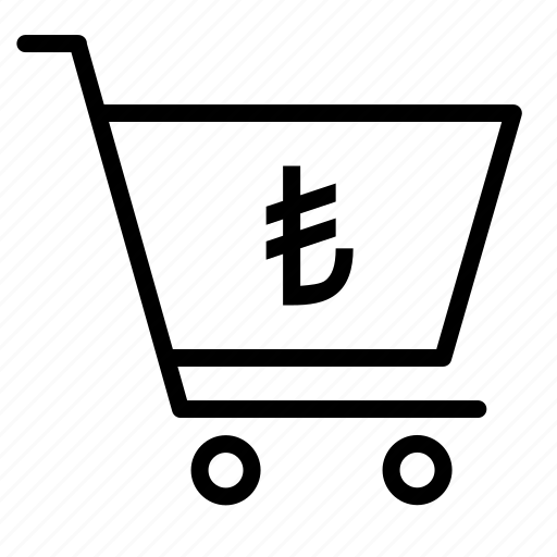 cart, currency, finance, lira, money, shopping, turkey icon