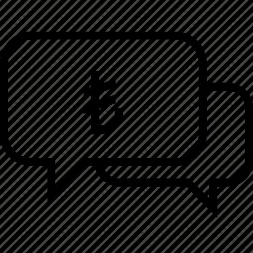 chat, finance, lira, message, talk, talking, turkey icon