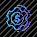 currency, dollar, money, setting, setup icon