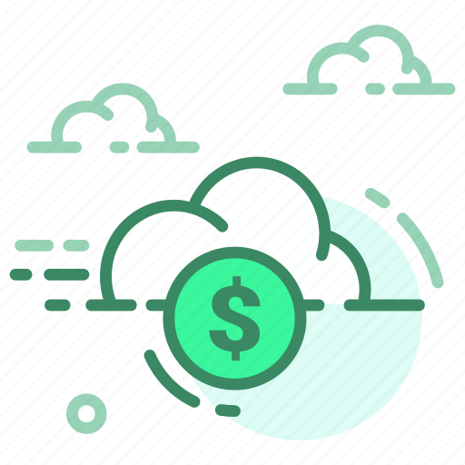cloud, currency, dollar, finance, money icon
