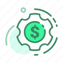 currency, dollar, money, setting, setup