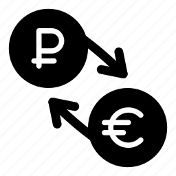 currency, eur, euro, exchange, money, ruble, rur icon