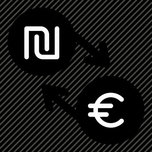 currency, eur, euro, exchange, ils, money, shekel icon