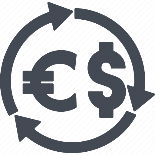 business, curreney exchange, euro, finance, money icon