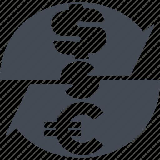 currency exchange, currencyexchange, curreney exchange, dollar, euro icon