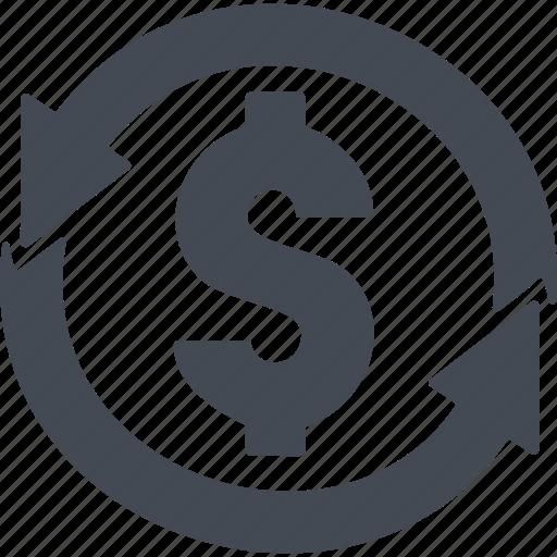 arrow, curreney exchange, dollar, exchange, money icon