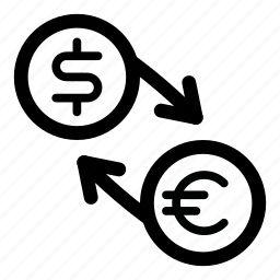currency, dollar, eur, euro, exchange, money, usd icon