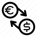 currency, dollar, eur, euro, exchange, money, usd