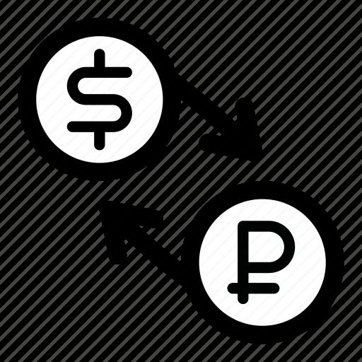 currency, dollar, exchange, rub, ruble, rur, usd icon