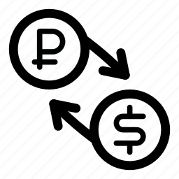 currency, dollar, exchange, money, ruble, rur, usd icon