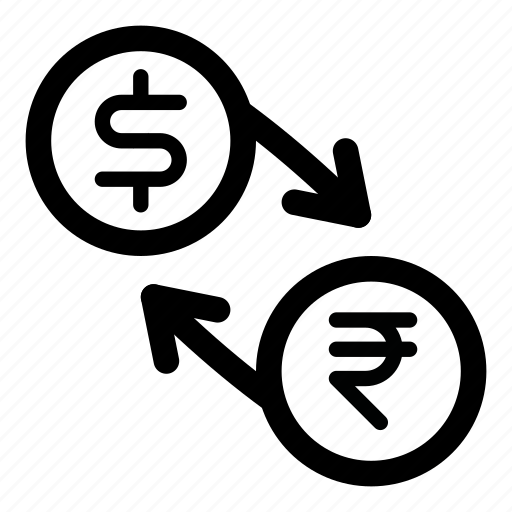currency, dollar, exchange, inr, money, rupee, usd icon