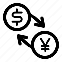 currency, dollar, exchange, jpy, money, usd, yen icon