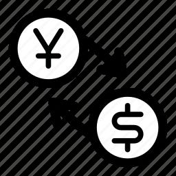 currency, dollar, exchange, jpy, money, usd, yen icon