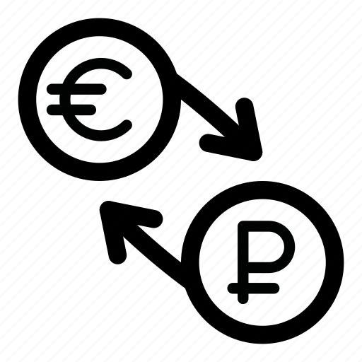 currency, eur, euro, exchange, rouble, ruble, rur icon