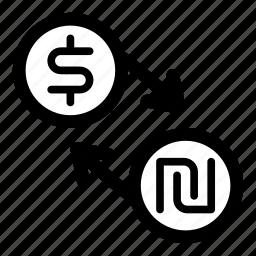 currency, dollar, exchange, ils, money, shekel, usd icon