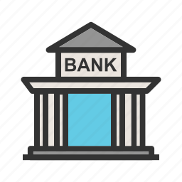bank, building, economy, financial. cash, institute, money icon