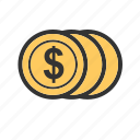 business, coin, currency, dollar, finance, money, payment icon