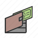 business, cash, currency, money, paying, purse, wallet icon