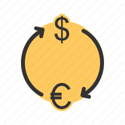 banking, convert, currency, euro, exchange, money icon