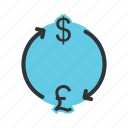 banking, convert, currency, exchange, money, pound icon