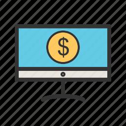 banking, financial, internet, money, online, transfer icon
