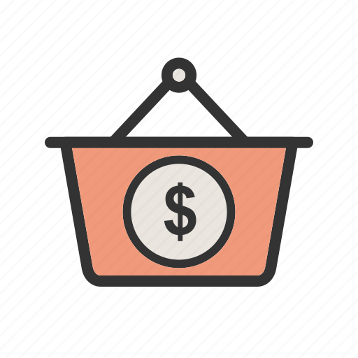 basket, business, cash, currency, dollar, money, wealth icon