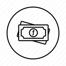 aruba, cash, coin, currency, guilder, money, price icon