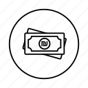 cash, coin, currency, israel, money, price, shekel icon