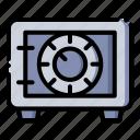 box, deposit, money, safe icon
