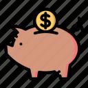 bank, piggy, piggy bank, saving icon