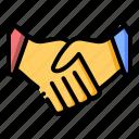 deal, hands, handshake, partner icon